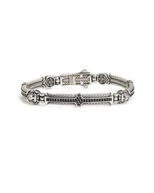 Konstantino Mens Aeolus Athena Sterling Silver Bracelet fDFaAmC