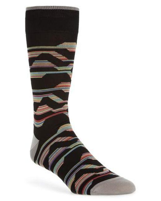Bugatchi - Black Mercerized Cotton Blend Socks for Men - Lyst