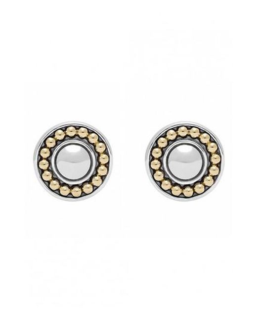 Lagos - Metallic 'enso' Two-tone Stud Earrings - Lyst