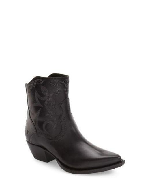 Frye | Black Shane Western Boot | Lyst