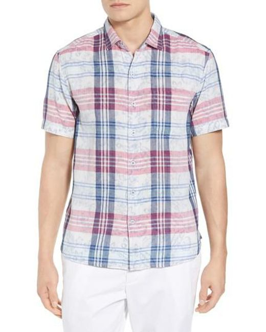 Tommy Bahama - Blue Zuma Plaid Sport Shirt for Men - Lyst