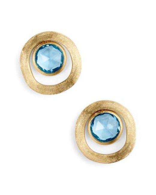 Marco Bicego | Blue Jaipur Semiprecious Stone Stud Earrings | Lyst