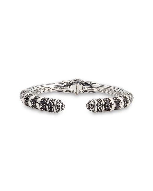 Konstantino - Metallic Circe Black Spinel Hinged Cuff Bracelet - Lyst