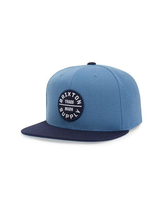 Brixton - Blue 'oath Iii' Snapback Cap - for Men - Lyst