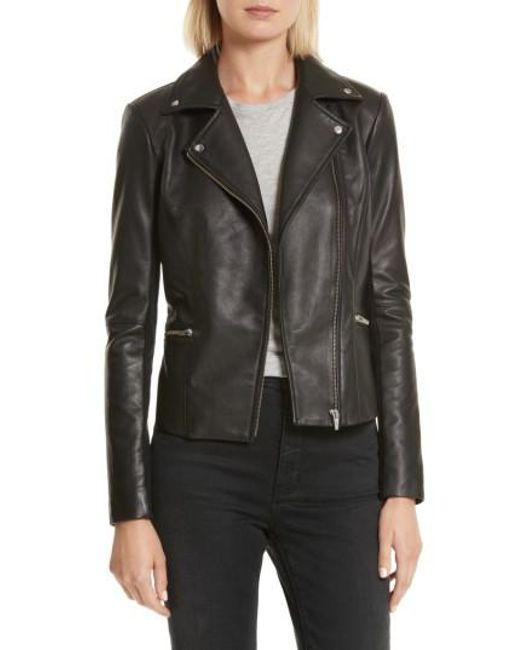 VEDA | Black Dallas Orion Lambskin Leather Jacket | Lyst