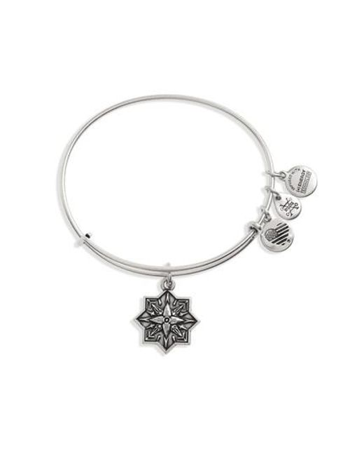 ALEX AND ANI | Metallic Healing Love Adjustable Wire Bangle | Lyst