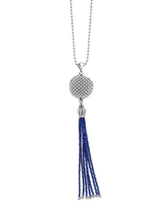Lagos | Multicolor Caviar Icon Tassel Pendant Necklace | Lyst