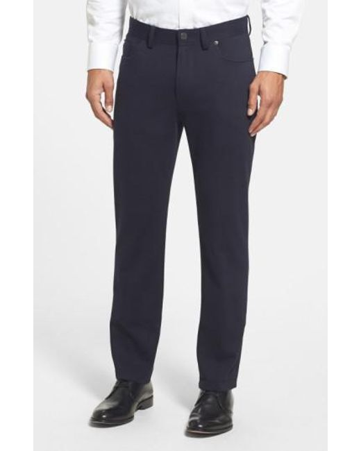 Vince Camuto | Black Sraight Leg Five Pocket Stretch Pants for Men | Lyst