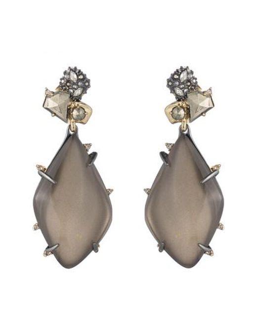Alexis Bittar | Gray Lucite Drop Earrings | Lyst