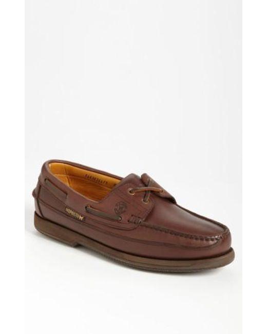 Mephisto - Brown 'hurrikan' Boat Shoe for Men - Lyst