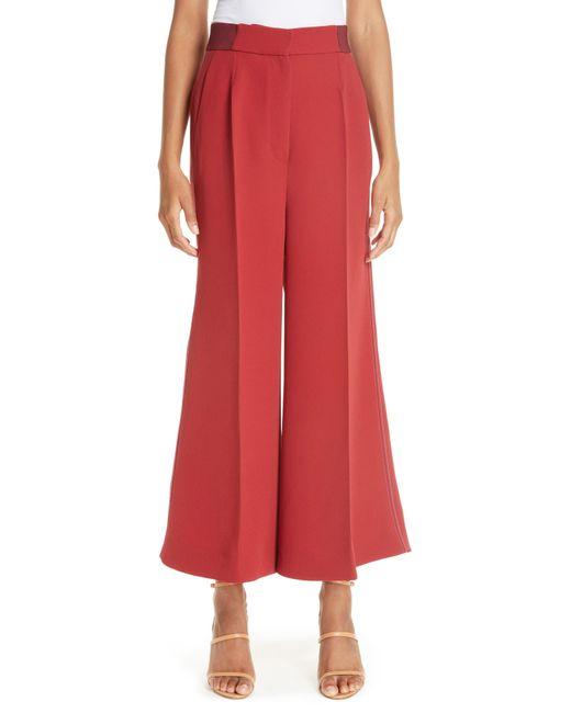 Roksanda - Red Crop Wide Leg Pants - Lyst