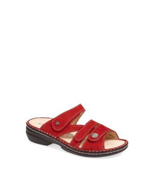 Finn Comfort   Red 'ventura' Sandal   Lyst
