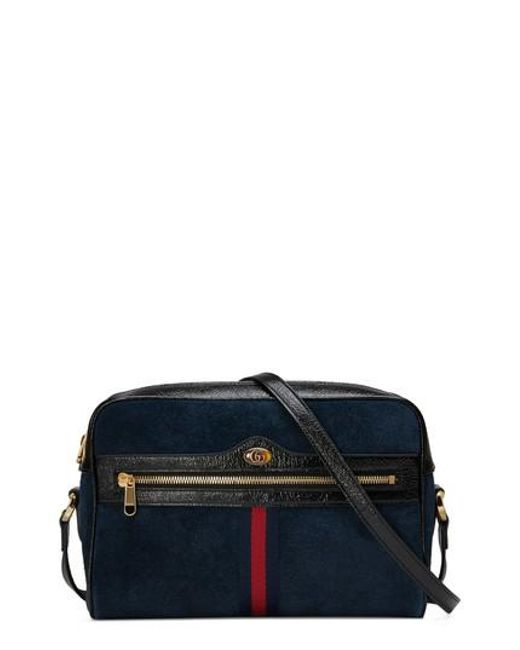 Gucci - Blue Ophidia Small Suede Crossbody Bag - - Lyst
