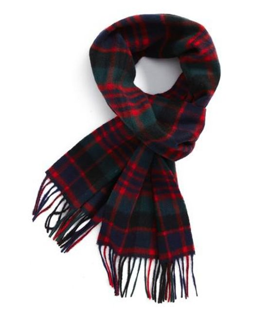 Barbour | Red New Check Lambswool Scarf | Lyst