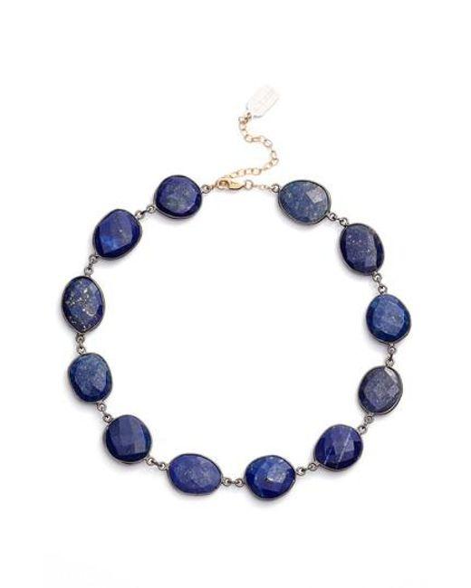 Ela Rae | Blue Sadie Collar Necklace | Lyst