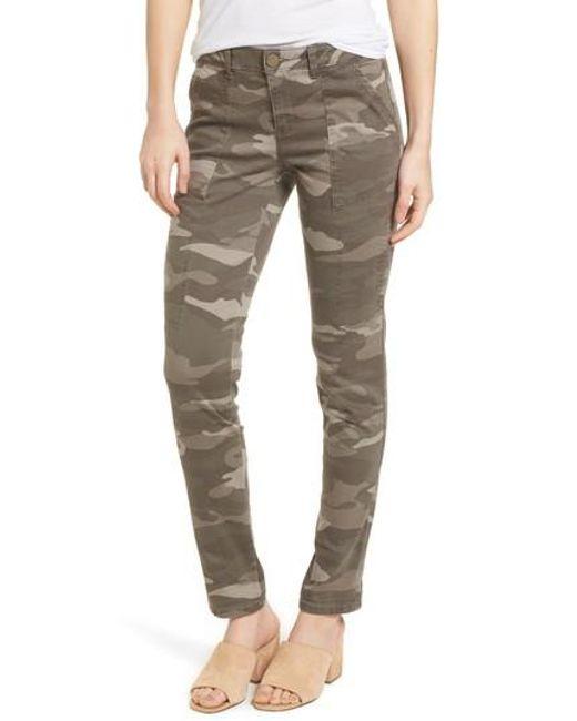 Wit & Wisdom - Green Twill Camo Cargo Pants - Lyst