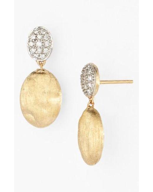 Marco Bicego | Metallic 'siviglia' Diamond Drop Earrings | Lyst