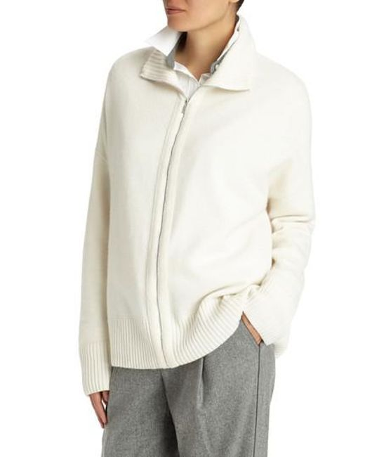 Lafayette 148 New York | Multicolor Luxe Merino Wool & Cashmere Sweater Jacket | Lyst