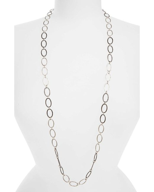 Armenta - Metallic Old World Midnight Oval Link Necklace - Lyst