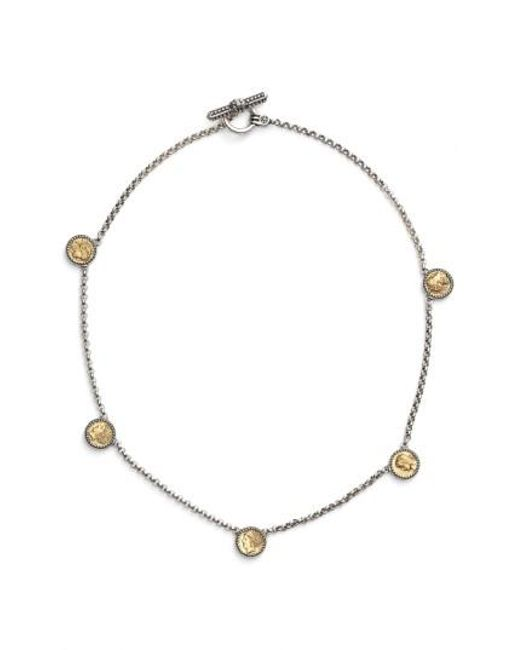Konstantino | Metallic 'kerma' Goddess Coin Necklace | Lyst