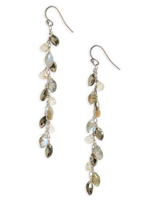 Chan Luu   Metallic Semiprecious Stone Sterling Silver Drop Earrings   Lyst