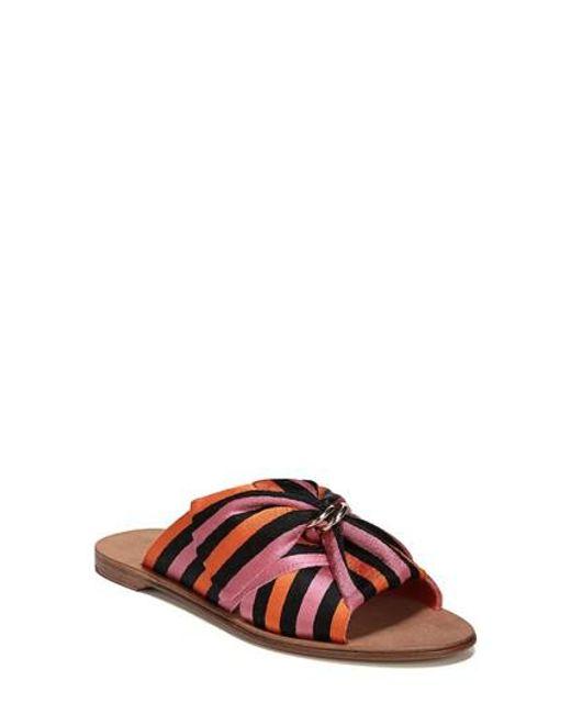 Diane von Furstenberg Women's Bella Asymmetrical Slide Sandal 7vasl3