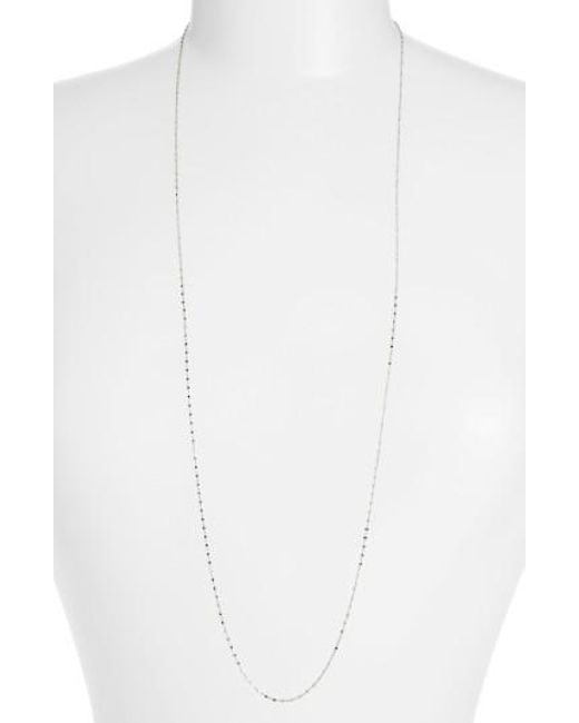 Bony Levy | White Beaded Chain Long Necklace (nordstrom Exclusive) | Lyst