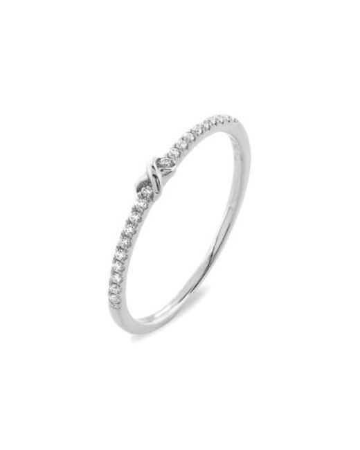 Bony Levy   White Stackable Knot Pave Diamond Ring (nordstrom Exclusive)   Lyst