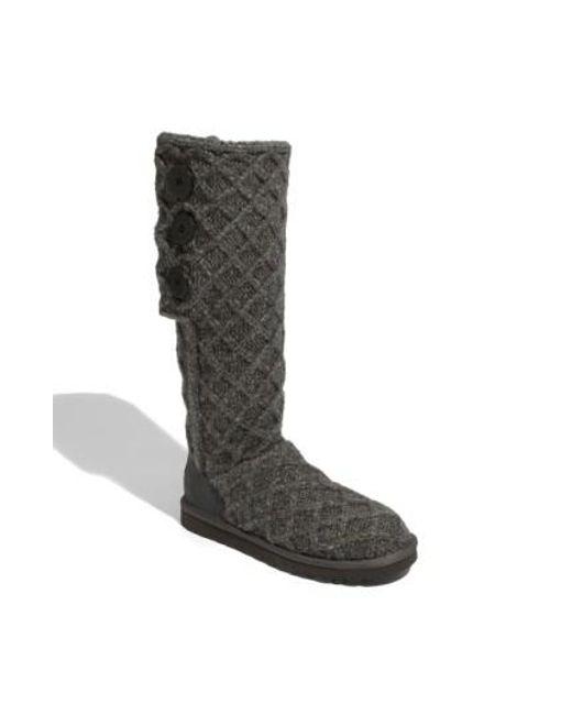 Ugg - Gray Ugg Australia 'lattice Cardy' Boot - Lyst