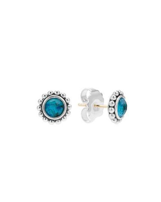 Lagos | Blue Maya Semiprecious Stone Stud Earrings | Lyst