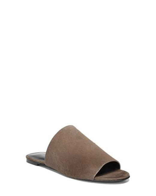 Via Spiga | Brown Heather 2 Genuine Calf Hair Slide Sandal | Lyst