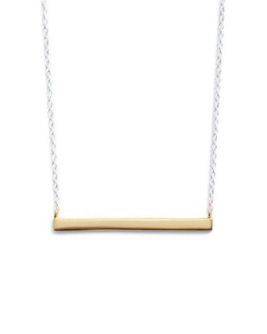 Argento Vivo   Metallic Bar Pendant Necklace   Lyst
