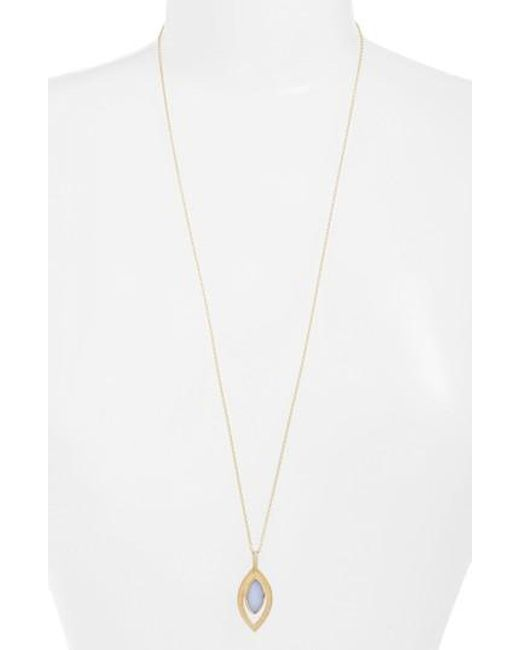 Anna Beck | Metallic Chalcedony Doublet Pendant Necklace | Lyst