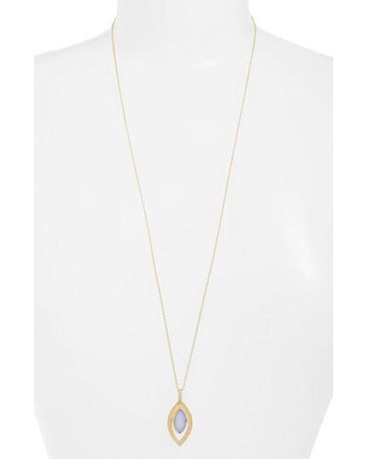 Anna Beck | Metallic Chalcedony Doublet Pendant Necklace | Lyst