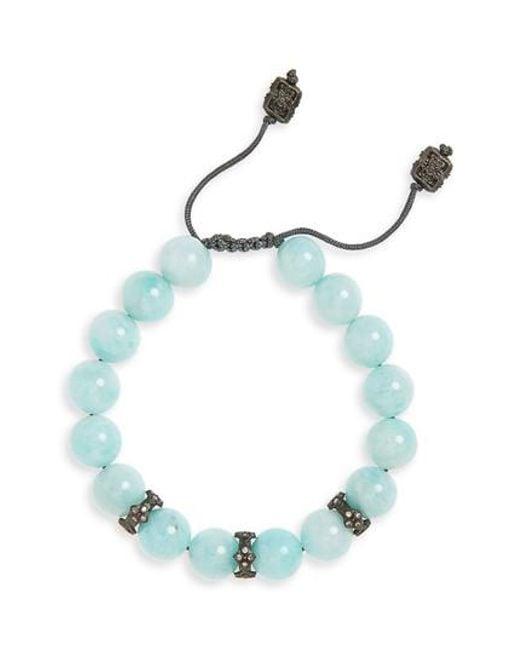 Armenta - Blue Old World Beaded Bracelet - Lyst