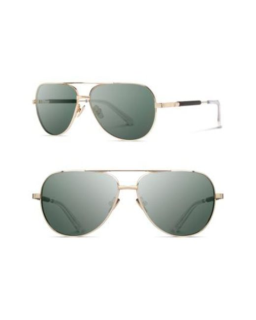 Shwood | Metallic 'redmond' 58mm Titanium & Wood Sunglasses for Men | Lyst