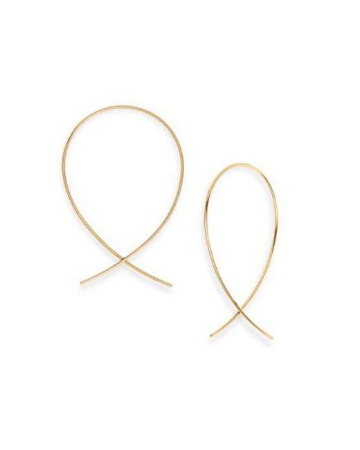 Lana Jewelry | Yellow 'upside Down' Small Hoop Earrings | Lyst