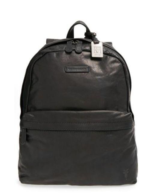 Frye | Black 'tyler' Leather Backpack for Men | Lyst