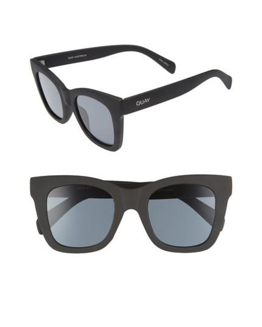 Quay - Black After Hours 50mm Square Sunglasses - Lyst