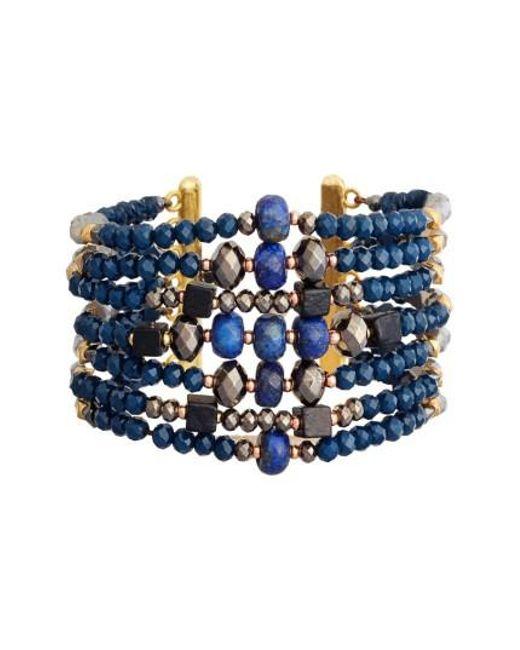 Nakamol | Blue Beaded Cuff Bracelet | Lyst