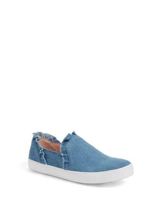 Kate Spade | Blue Lilly Ruffle Slip-on Sneaker | Lyst