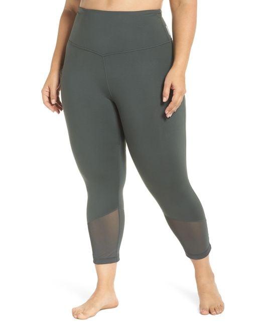 Zella - Gray Gemini High Waist Cool Crop Leggings - Lyst