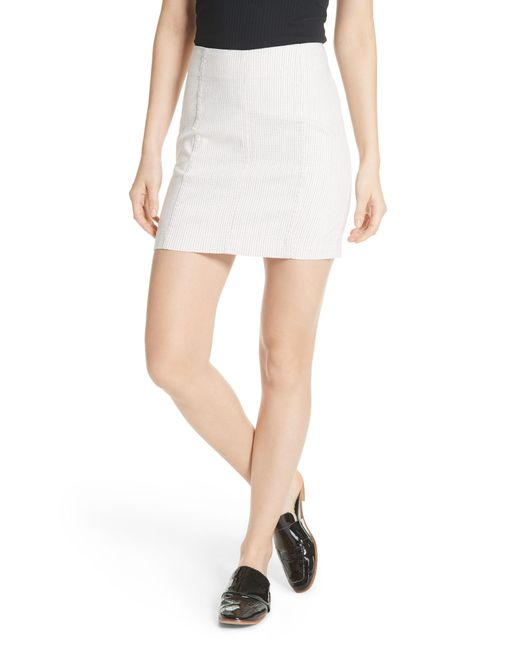 Free People - White We The Free By Modern Femme Pinstripe Skirt - Lyst