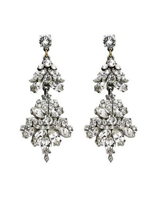 Ben-Amun - Metallic Crystal Statement Earrings - Lyst
