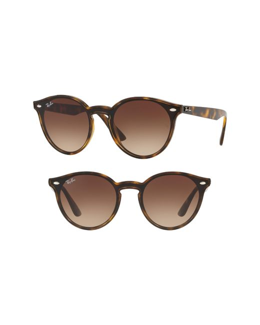Ray-Ban - Brown Blaze 37mm Round Sunglasses - - Lyst