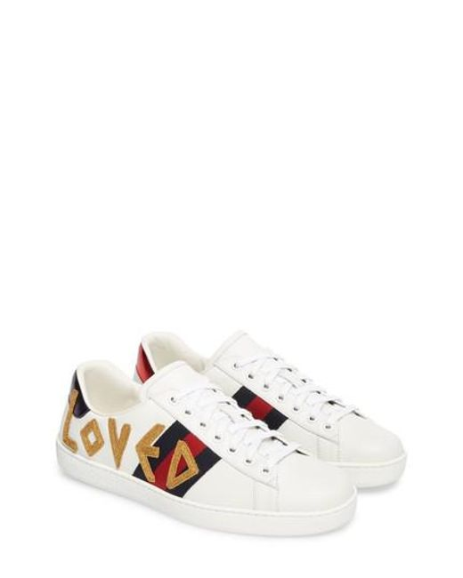 Gucci - White New Ace Loved Sneaker for Men - Lyst