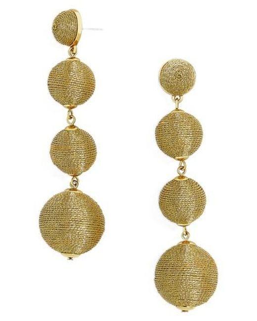 BaubleBar | Metallic Criselda Ball Shoulder Duster Earrings | Lyst