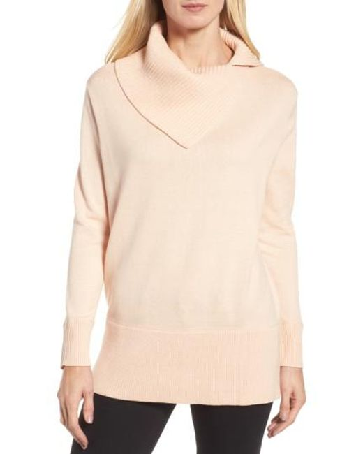 Chaus   Natural Cowl Neck Sweater   Lyst