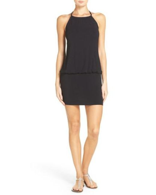 Laundry by Shelli Segal | Black Blouson Cover-up Dress | Lyst