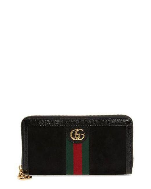 Ophidia suede zip-around wallet Gucci